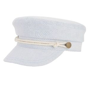 Sky Blue Cadet Hat with White String